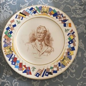 Allied Nations General Eisenhower WW2 plate